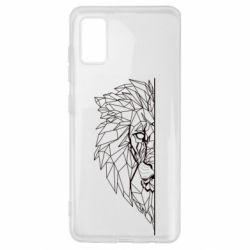 Чохол для Samsung A41 Low poly lion head