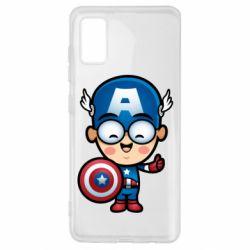 Чехол для Samsung A41 Маленький Капитан Америка