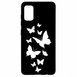 Чохол для Samsung A41 Many butterflies