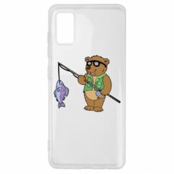 Чохол для Samsung A41 Ведмідь ловить рибу