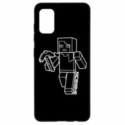 Чехол для Samsung A41 Minecraft and hero nickname