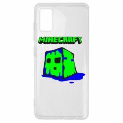 Чохол для Samsung A41 Minecraft Head