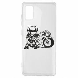 Чехол для Samsung A41 Мотоциклист