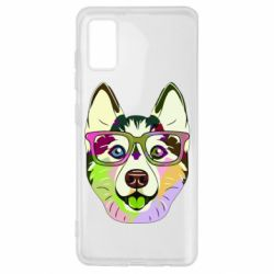 Чохол для Samsung A41 Multi-colored dog with glasses