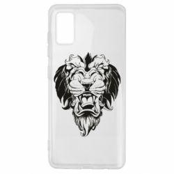 Чехол для Samsung A41 Muzzle of a lion