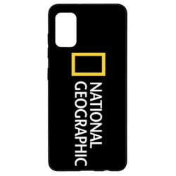 Чехол для Samsung A41 National Geographic logo