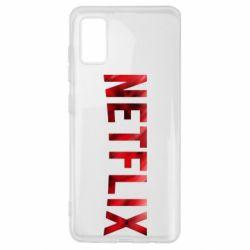 Чехол для Samsung A41 Netflix logo text