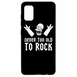 Чехол для Samsung A41 Never old to rock (Gomer)