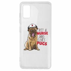 Чехол для Samsung A41 Nurse loves pugs