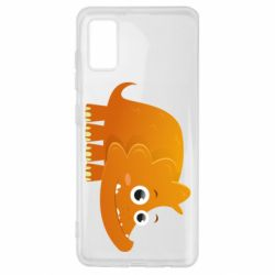 Чехол для Samsung A41 Orange dinosaur