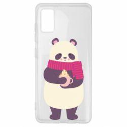 Чехол для Samsung A41 Panda and Cappuccino