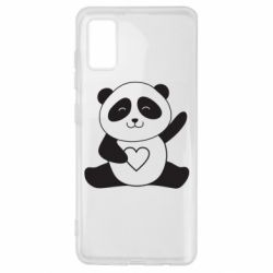 Чохол для Samsung A41 Panda and heart