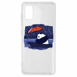 Чехол для Samsung A41 Panda and rain