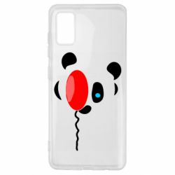 Чехол для Samsung A41 Panda and red balloon