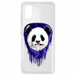 Чехол для Samsung A41 Panda on a watercolor stain