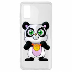 Чехол для Samsung A41 Panda with a medal on his chest