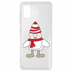 Чехол для Samsung A41 Penguin in the hat and scarf