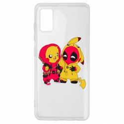 Чехол для Samsung A41 Pikachu and deadpool