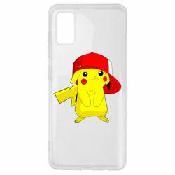 Чехол для Samsung A41 Pikachu in a cap