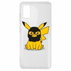 Чохол для Samsung A41 Pikachu in balaclava