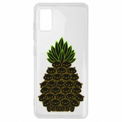 Чехол для Samsung A41 Pineapple cat