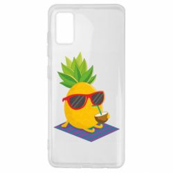 Чехол для Samsung A41 Pineapple with coconut