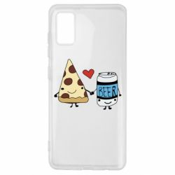 Чохол для Samsung A41 Pizza and beer