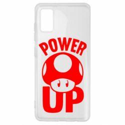 Чехол для Samsung A41 Power Up гриб Марио