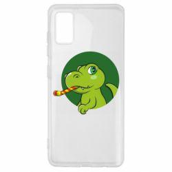 Чохол для Samsung A41 Святковий динозавр