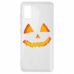 Чохол для Samsung A41 Pumpkin face features