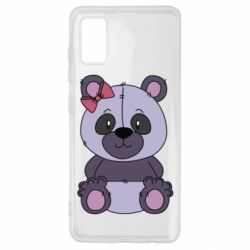 Чохол для Samsung A41 Purple Teddy Bear