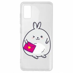 Чохол для Samsung A41 Rabbit with a letter