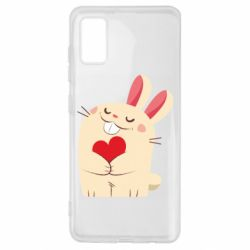 Чехол для Samsung A41 Rabbit with heart