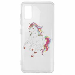 Чехол для Samsung A41 Red eye unicorn