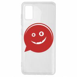 Чехол для Samsung A41 Red smile