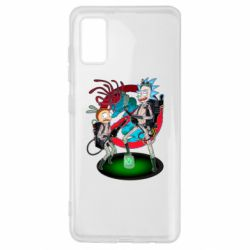 Чохол для Samsung A41 Rick and Morty as Ghostbusters