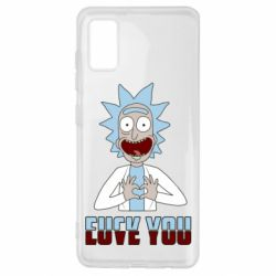 Чохол для Samsung A41 Rick and Morty fack and love you