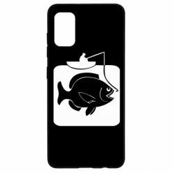 Чехол для Samsung A41 Рыба на крючке