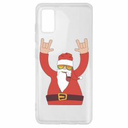 Чохол для Samsung A41 Santa Claus with a tube