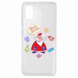 Чехол для Samsung A41 Santa says merry christmas