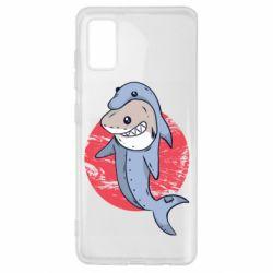 Чехол для Samsung A41 Shark or dolphin