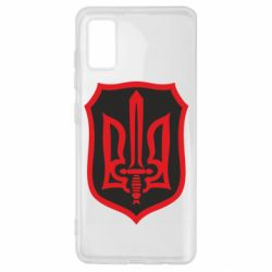Чехол для Samsung A41 Shield with the emblem of Ukraine and the sword