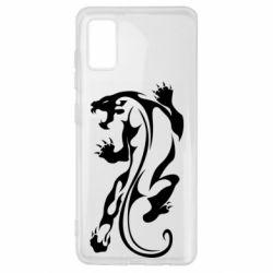 Чехол для Samsung A41 Silhouette of a tiger