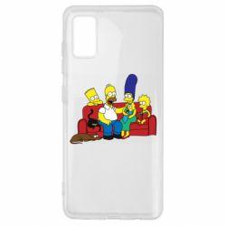 Чехол для Samsung A41 Simpsons At Home