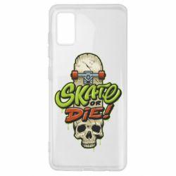 Чохол для Samsung A41 Skate or die skull