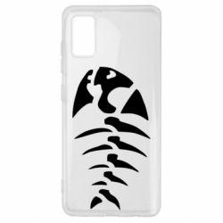 Чехол для Samsung A41 скелет рыбки