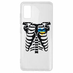 Чохол для Samsung A41 Скелет з серцем Україна