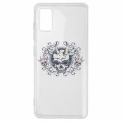 Чохол для Samsung A41 Skull with horns and patterns