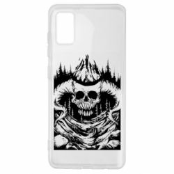 Чехол для Samsung A41 Skull with horns in the forest