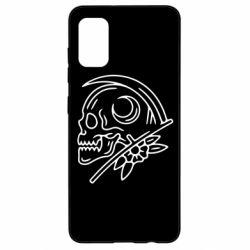 Чохол для Samsung A41 Skull with scythe